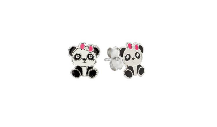 Revere Sterling Silver Panda Stud Earrings