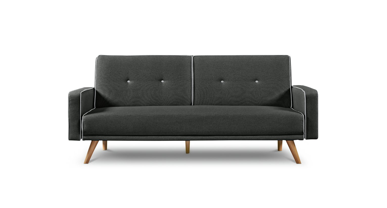 Argos Home Frankie 2 Seater Clic Clac Sofa Bed - Charcoal