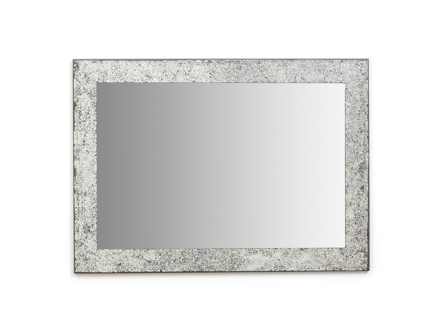 Argos Home India Crackle Glass Wall Mirror - Silver