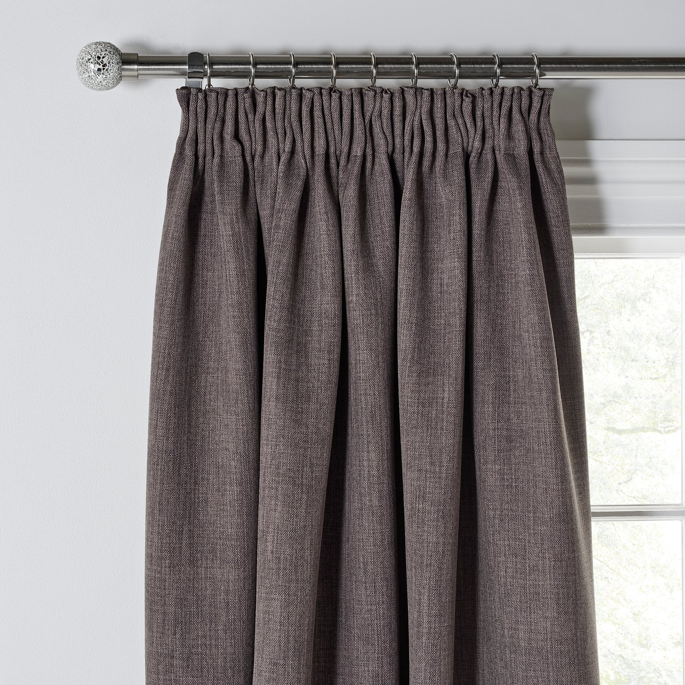 Argos Home Twilight Pencil Pleat Curtains - 168x228cm