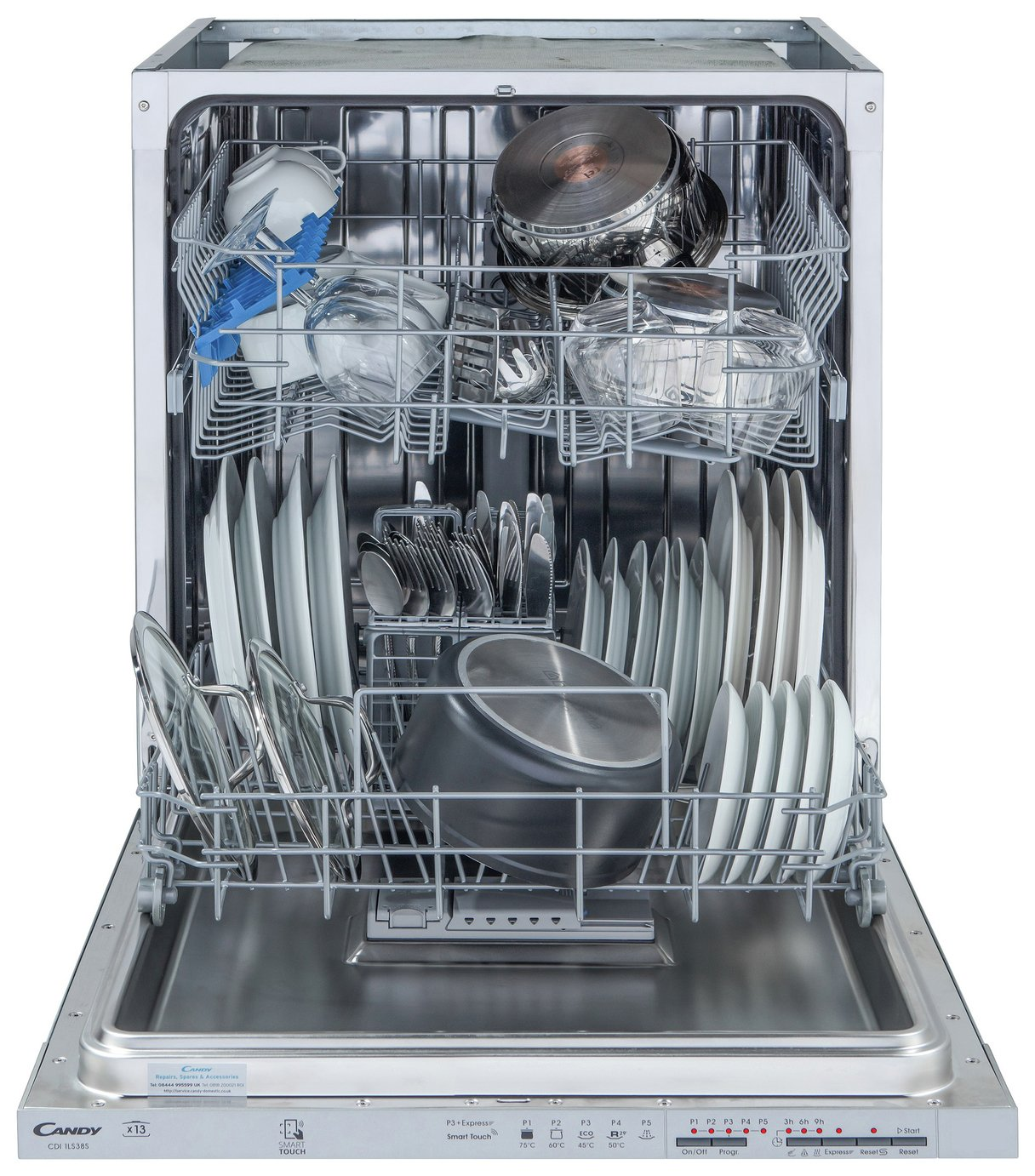 Candy CDI1LS38S Full Size Integrated Dishwasher