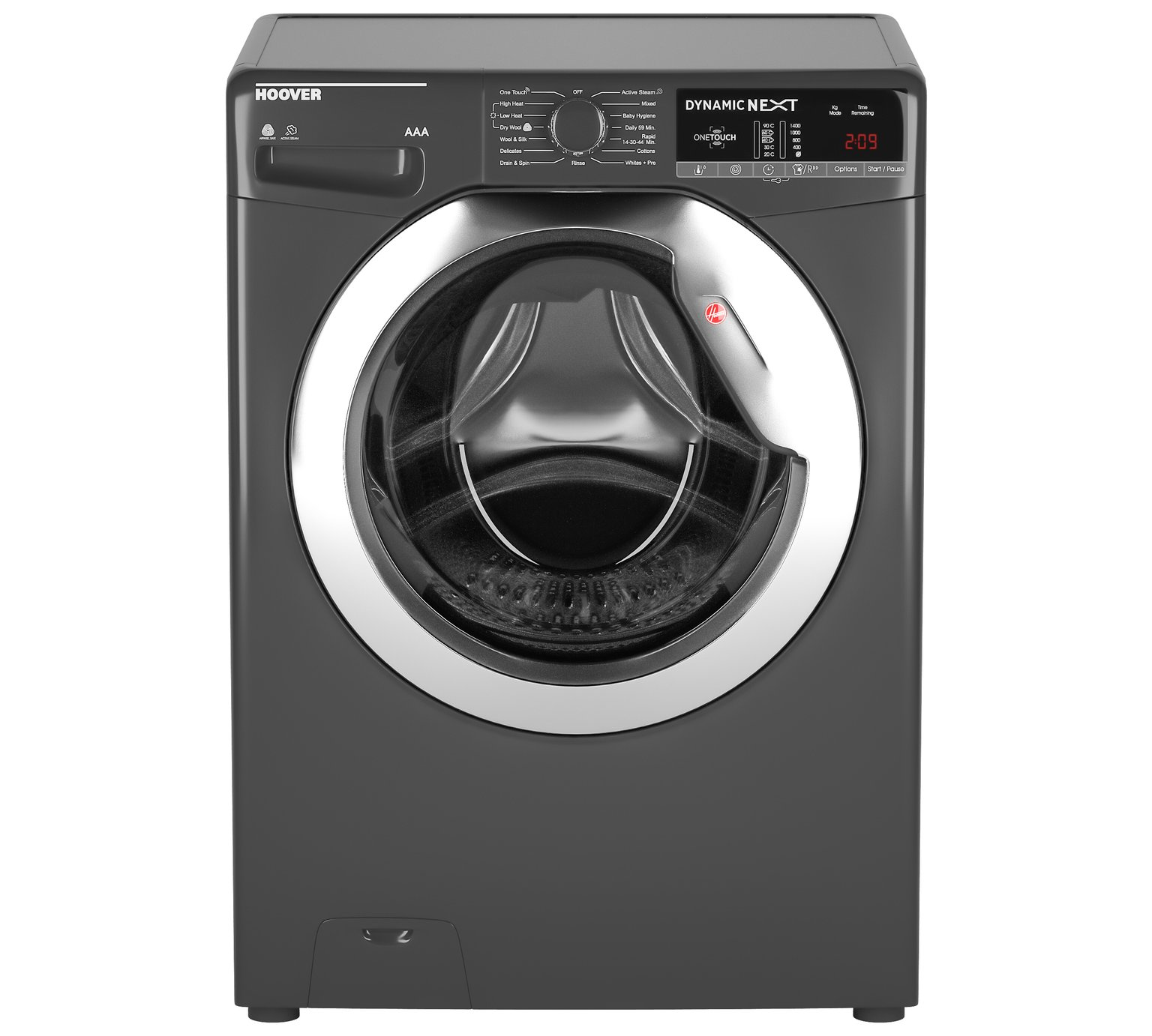Hoover WDXOA4106HCR 10KG 6KG 1400 Spin Washer Dryer Graphite by Hoover 837/0488