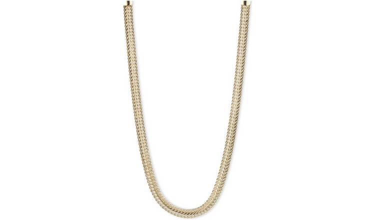 Anne Klein Gold Colour Flat Weaved 21inch Necklace
