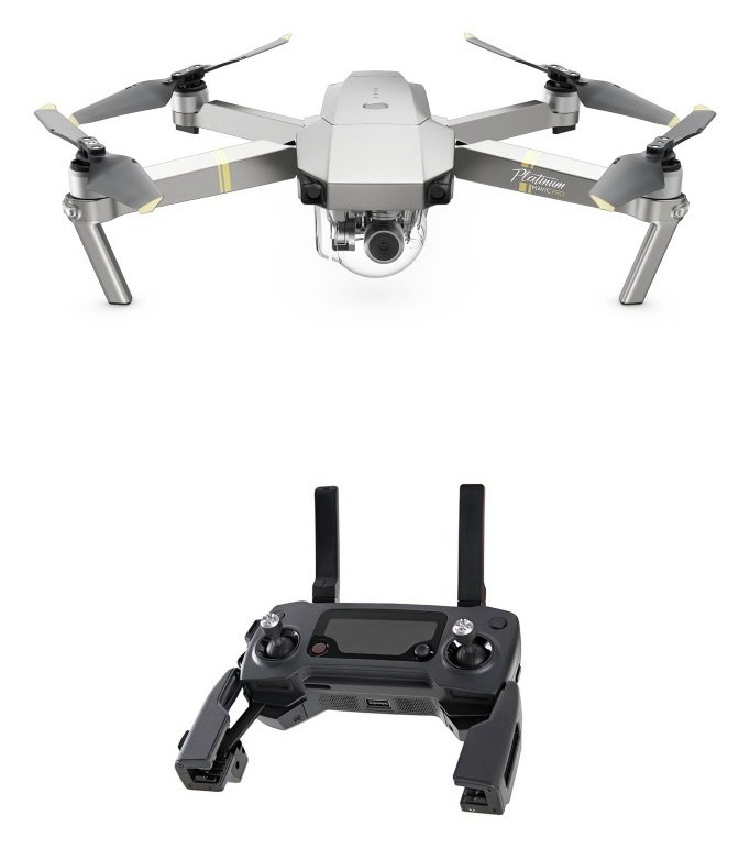 DJI Mavic Pro Platinum Drone - Grey with Controller