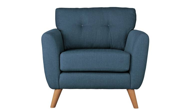 Buy Argos Home Kari Fabric Armchair Blue Armchairs And Chairs
