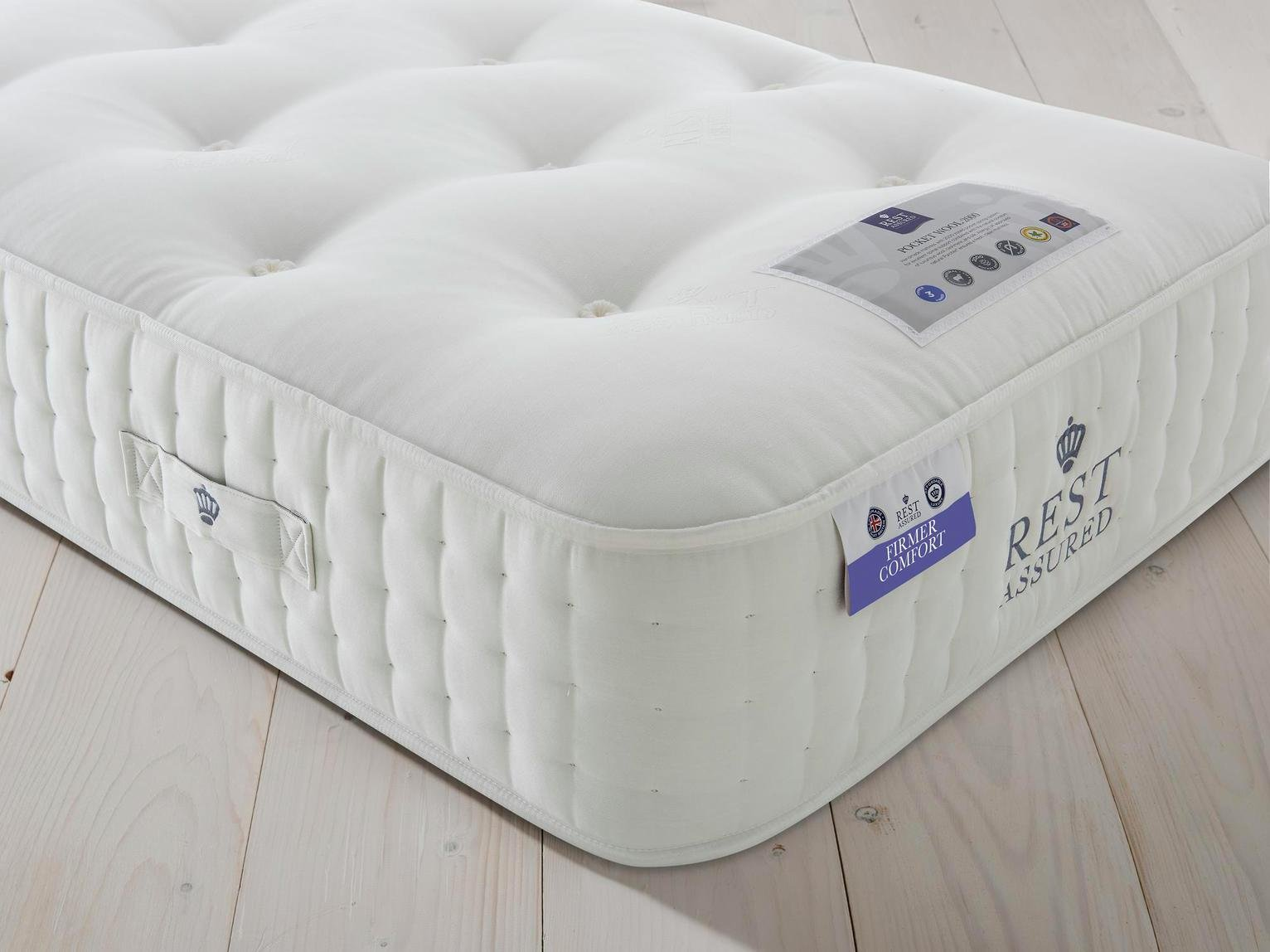 Rest Assured Naturals Pocket Sprung Single Mattress - Firm