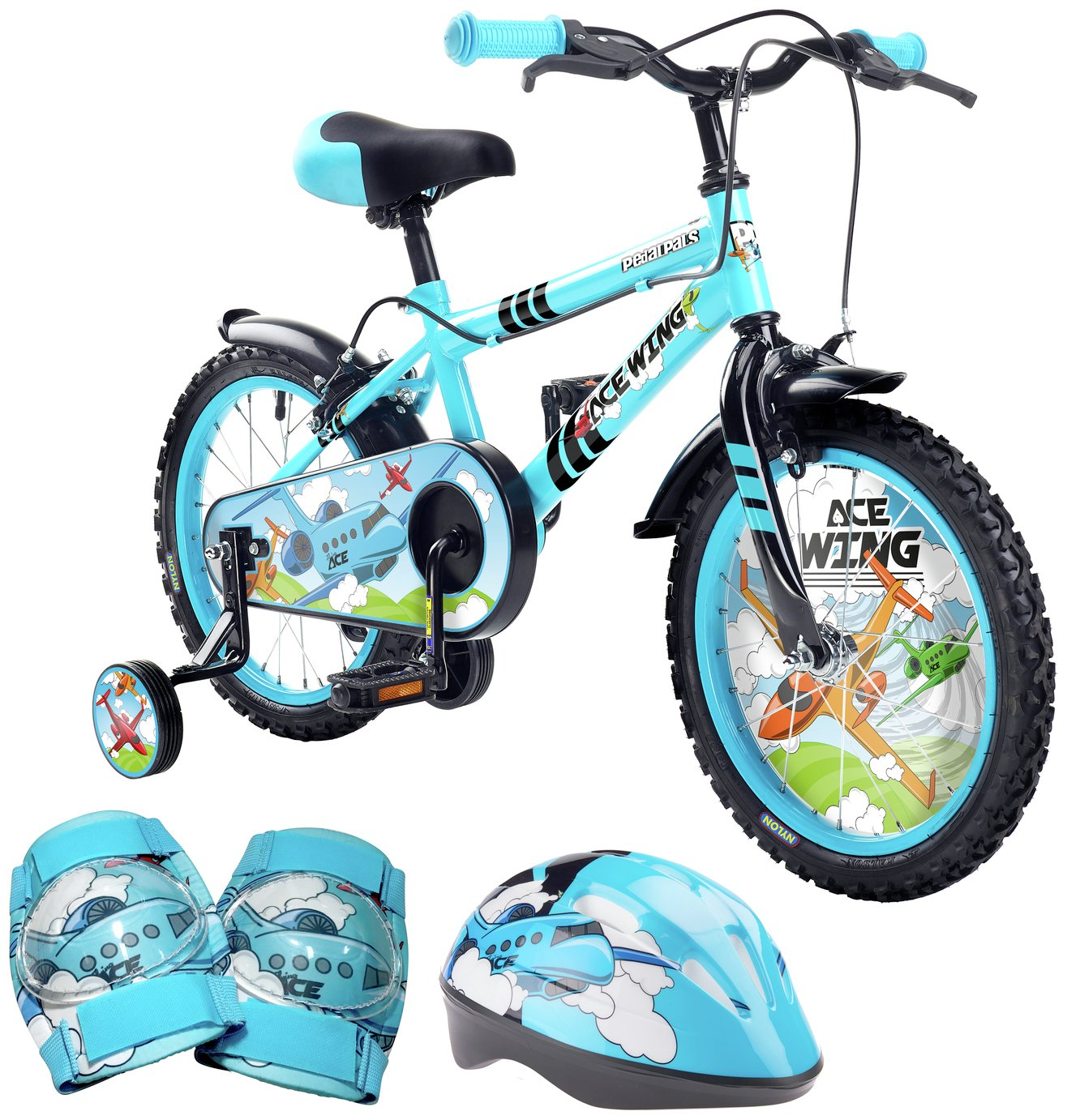 Pedal Pals 16 Inch Ace Wing Kids Bike and Accessories Set