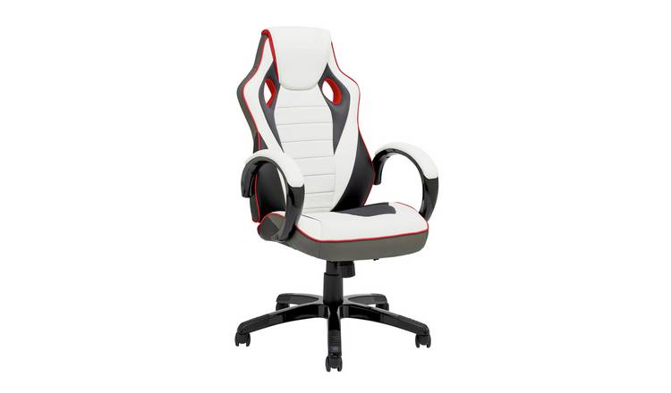 Stupendous Buy X Rocker Druid Faux Leather Gaming Chair White Gaming Chairs Argos Uwap Interior Chair Design Uwaporg