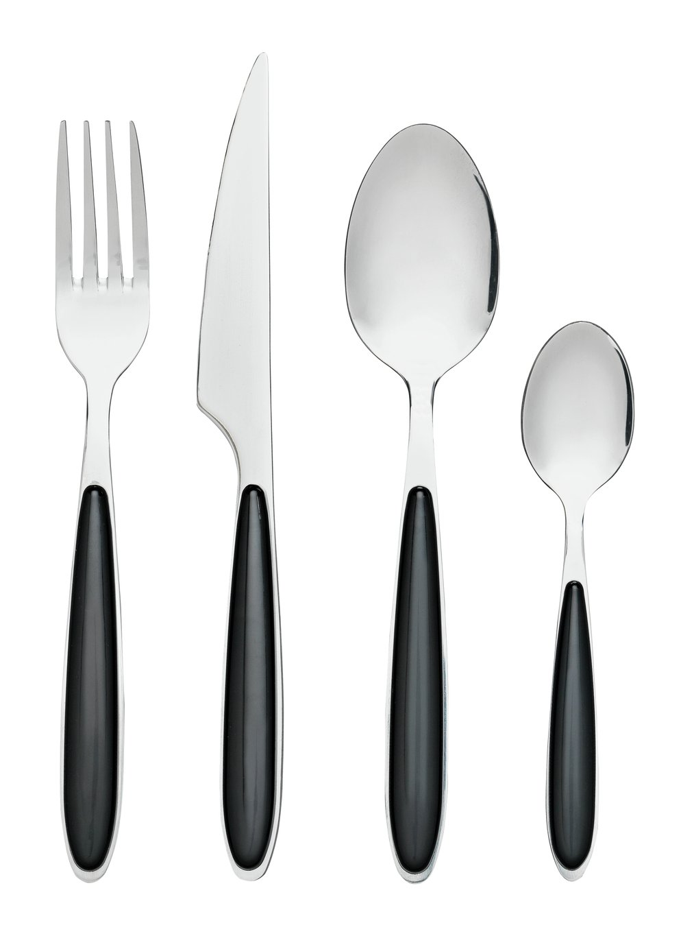 Argos Home 24 Piece Cutlery Set - Black