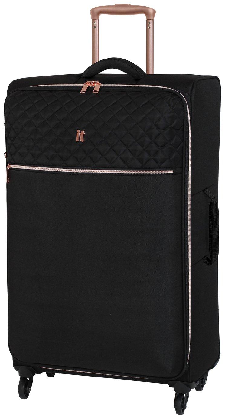 it Luggage Large Expandable 4 Wheel Soft Suitcase - Black