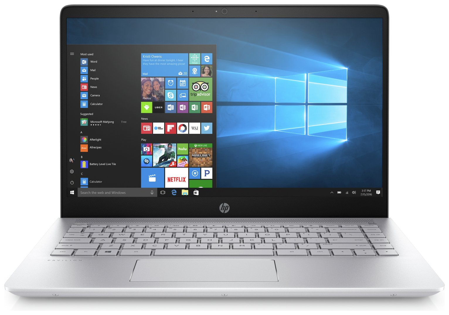 HP HP Pavilion 14 Inch Intel i5 8GB 256GB Laptop - Silver