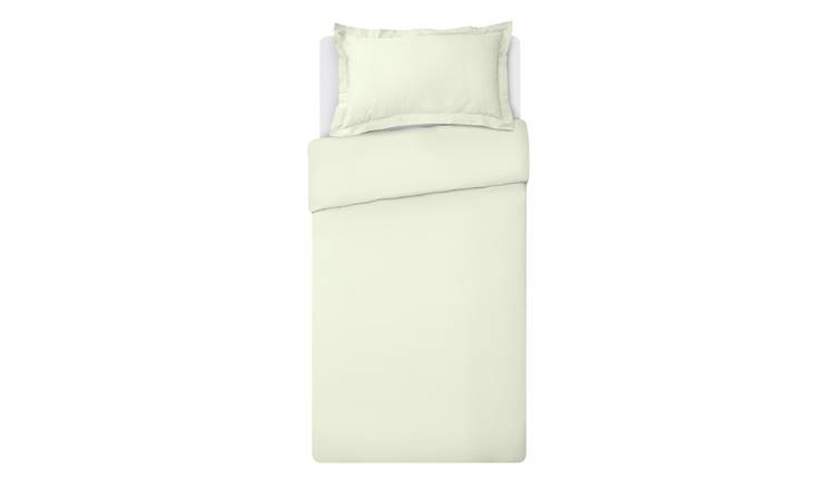 Argos Home 400TC Egyptian Cotton Oxford Duvet Set - Single