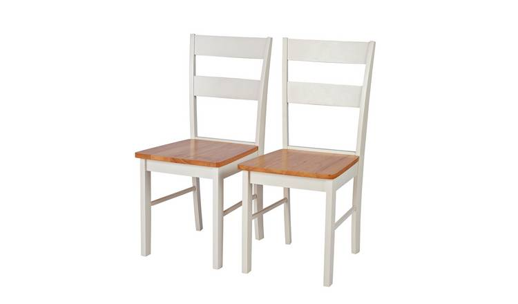 Habitat Chicago Pair of Dining Chairs - Two Tone