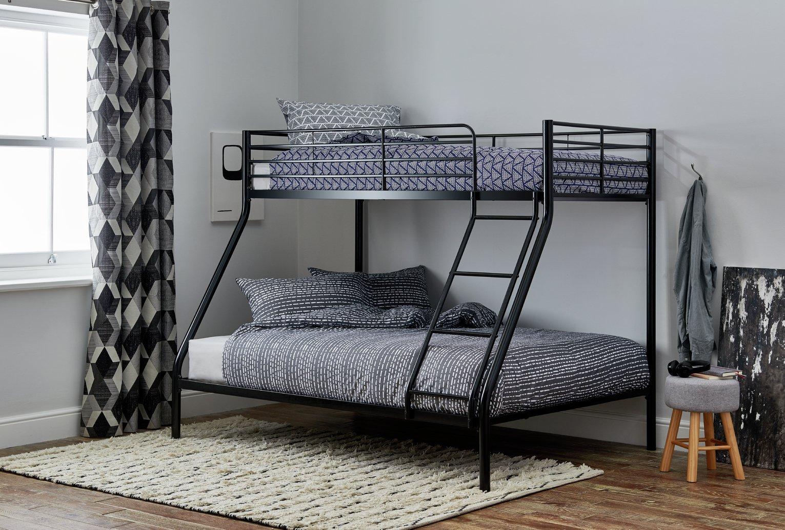 Argos Home Willen Metal Triple Bunk Bed - Black