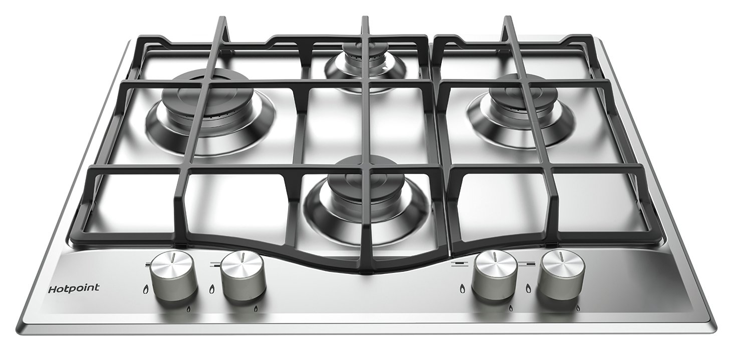 Hotpoint PCN 641 IX/H 60cm Gas Hob - Stainless Steel