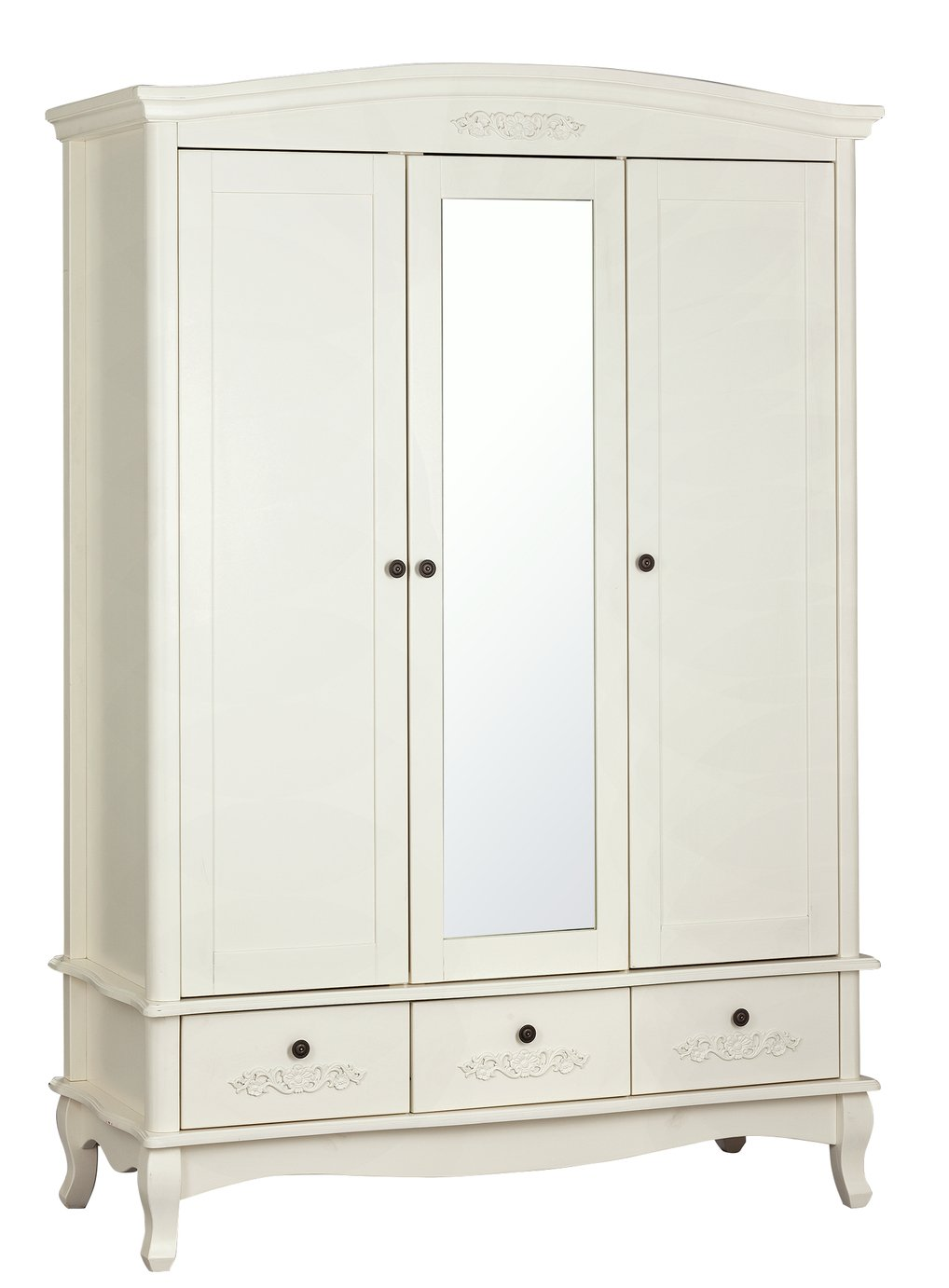 Argos Home Sophia 3 Door 3 Drawer Mirror Wardrobe