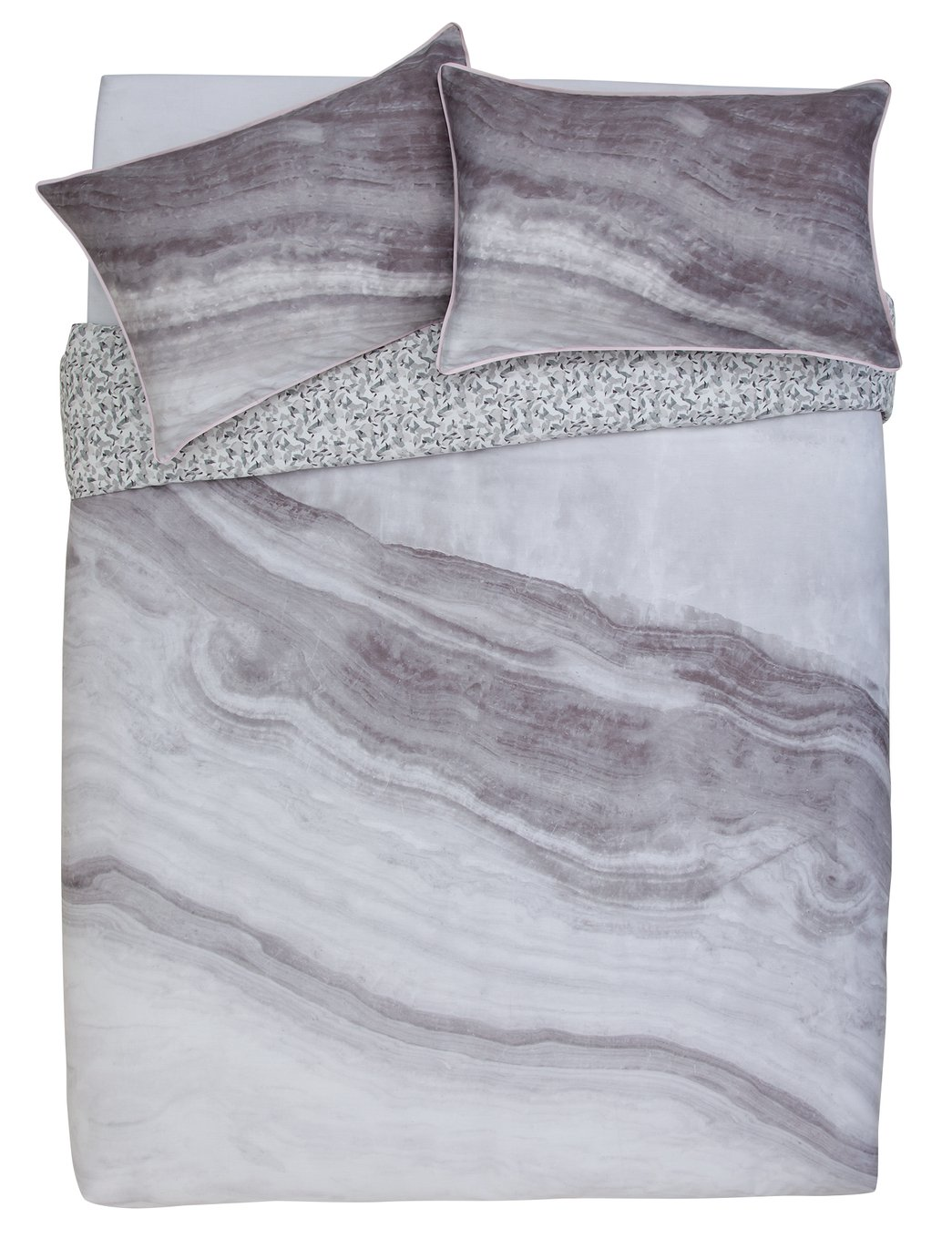 Argos Home Grey Marble Bedding Set - Double