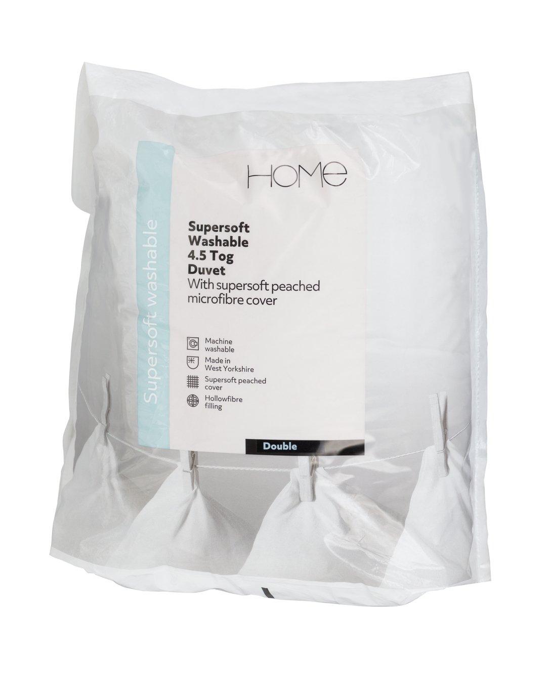 Image of Argos Home Supersoft Washable 4.5 Tog Duvet - Single