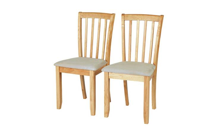 At Home Dining Chairs.Buy Argos Home Banbury Pair Of Dining Chairs Natural Dining Chairs Argos