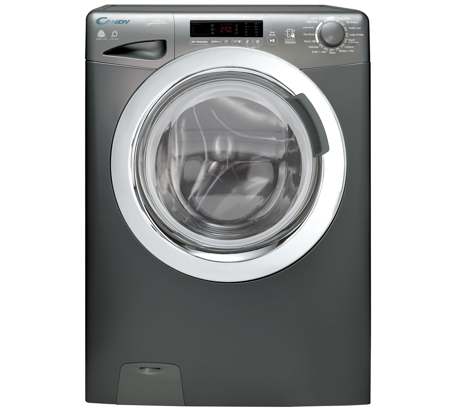 Candy GVSW485DCR 8 / 5KG 1400 Spin Washer Dryer - Graphite