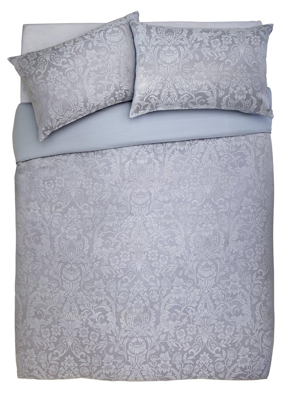 Argos Home Grey Damask Jacquard Bedding Set - Double