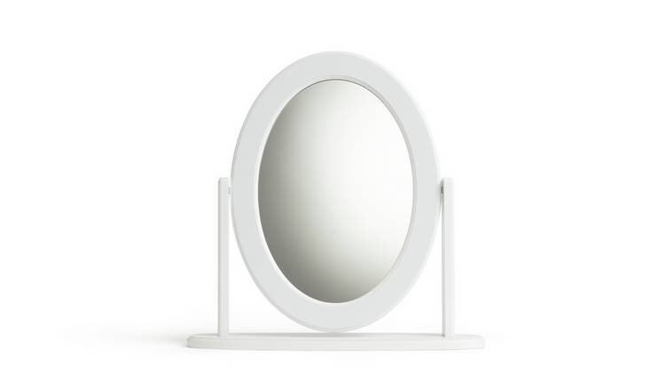 Argos Home Oval Dressing Table Mirror - White