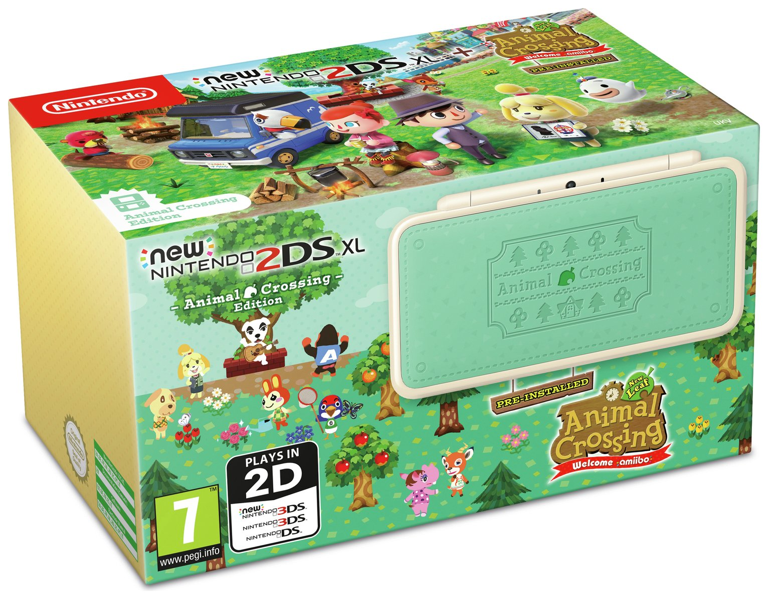 Nintendo 2DS XL Console Animal Crossing New Leaf Edition