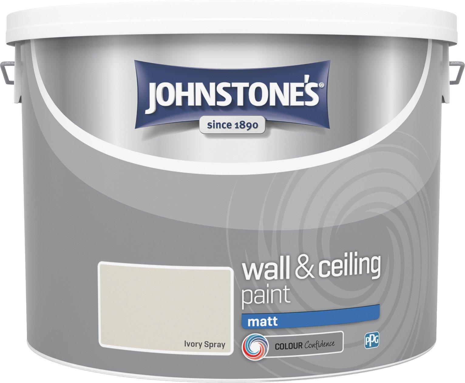 Johnstone's Ivory Spray Matt Emulsion Paint 10 Litre