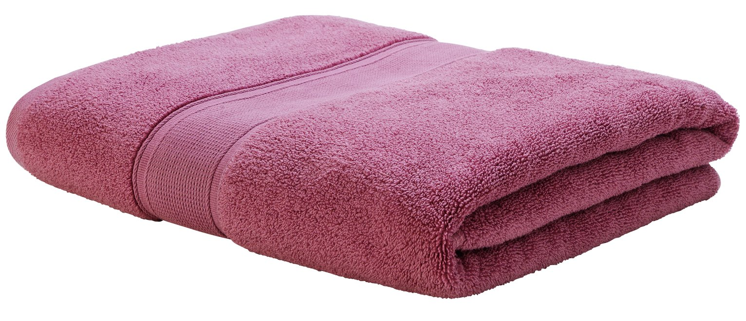 Argos Home Super Soft Bath Sheet - Raspberry