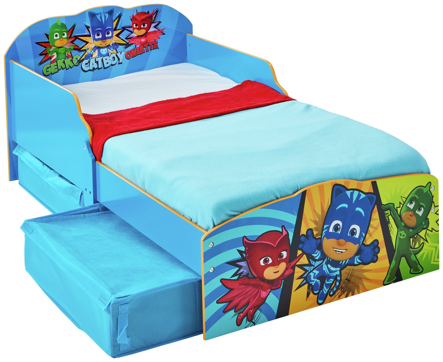 Argos Home PJ Masks Toddler Bed with Underbed Storage