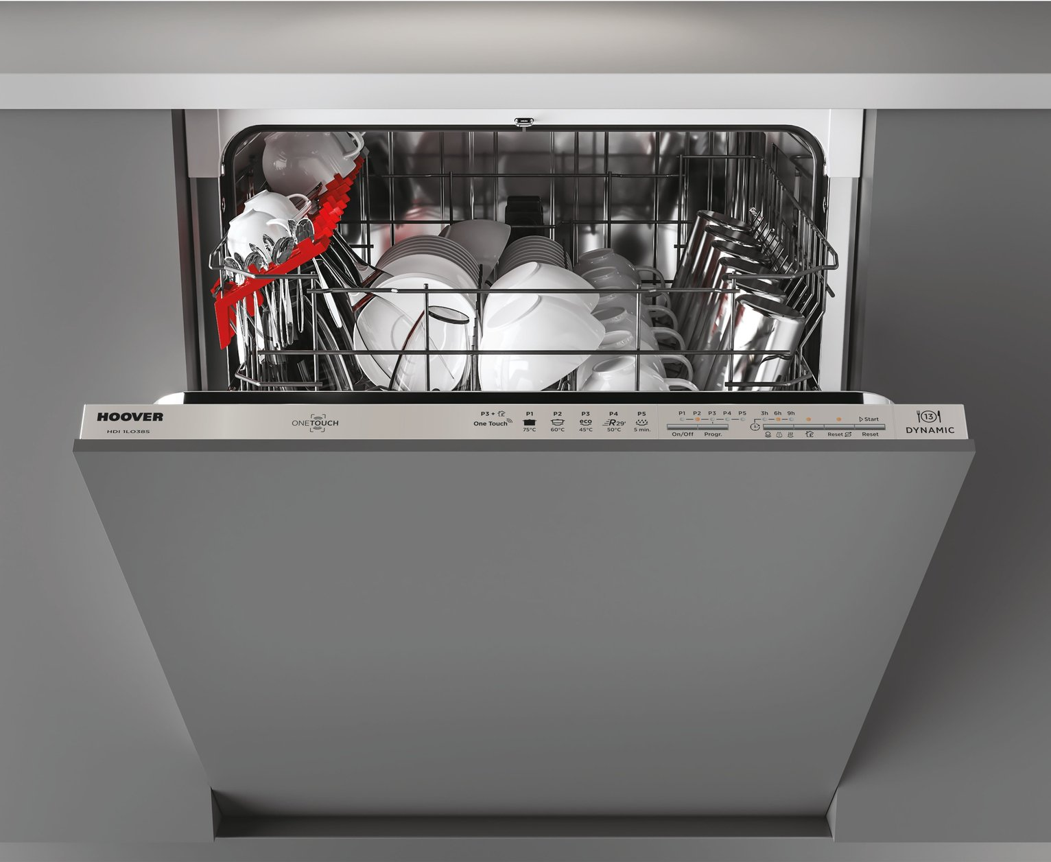 Hoover HDI 1L038B Full Size Integrated Dishwasher