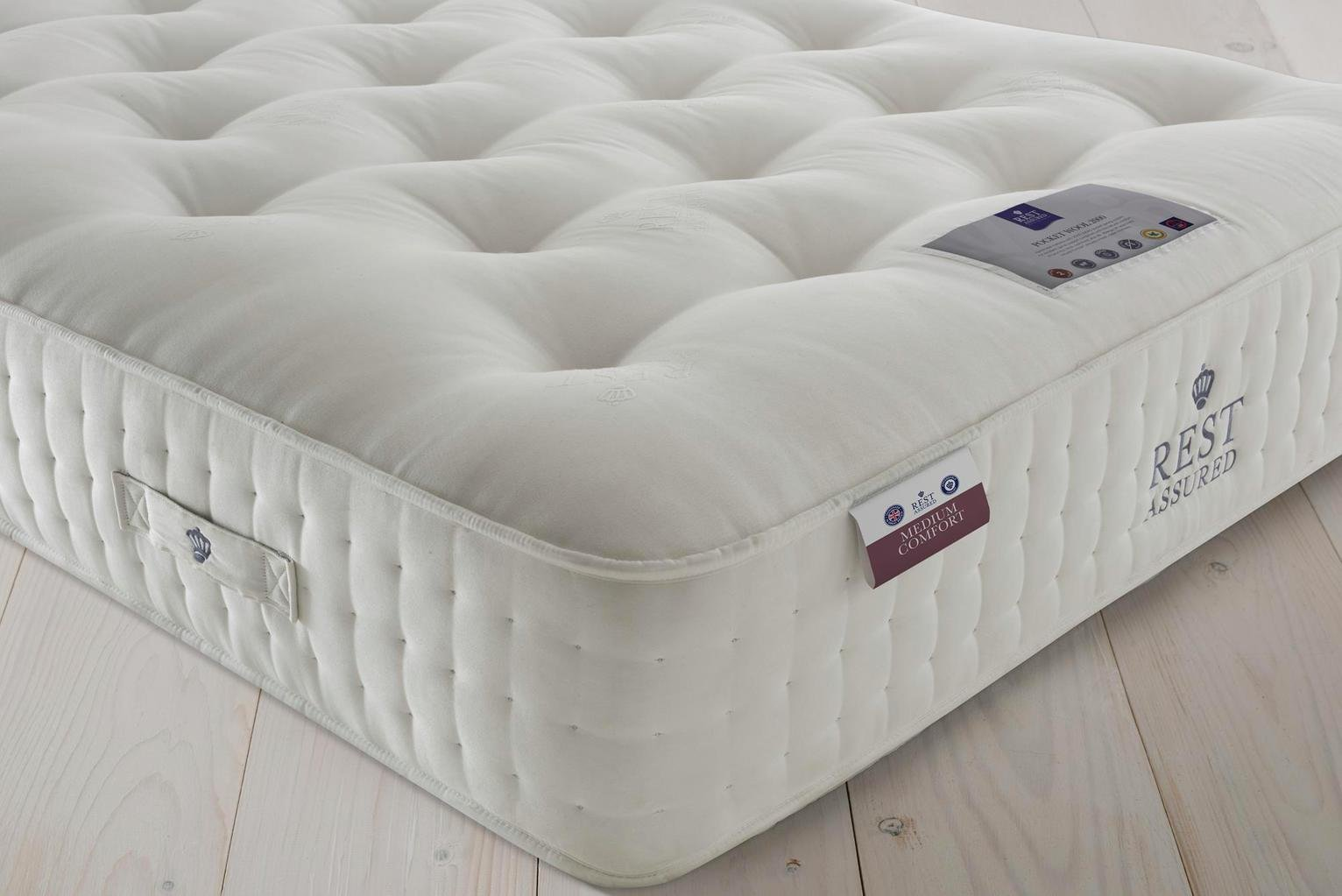 Rest Assured Naturals Pkt Sprung Superking Mattress - Medium