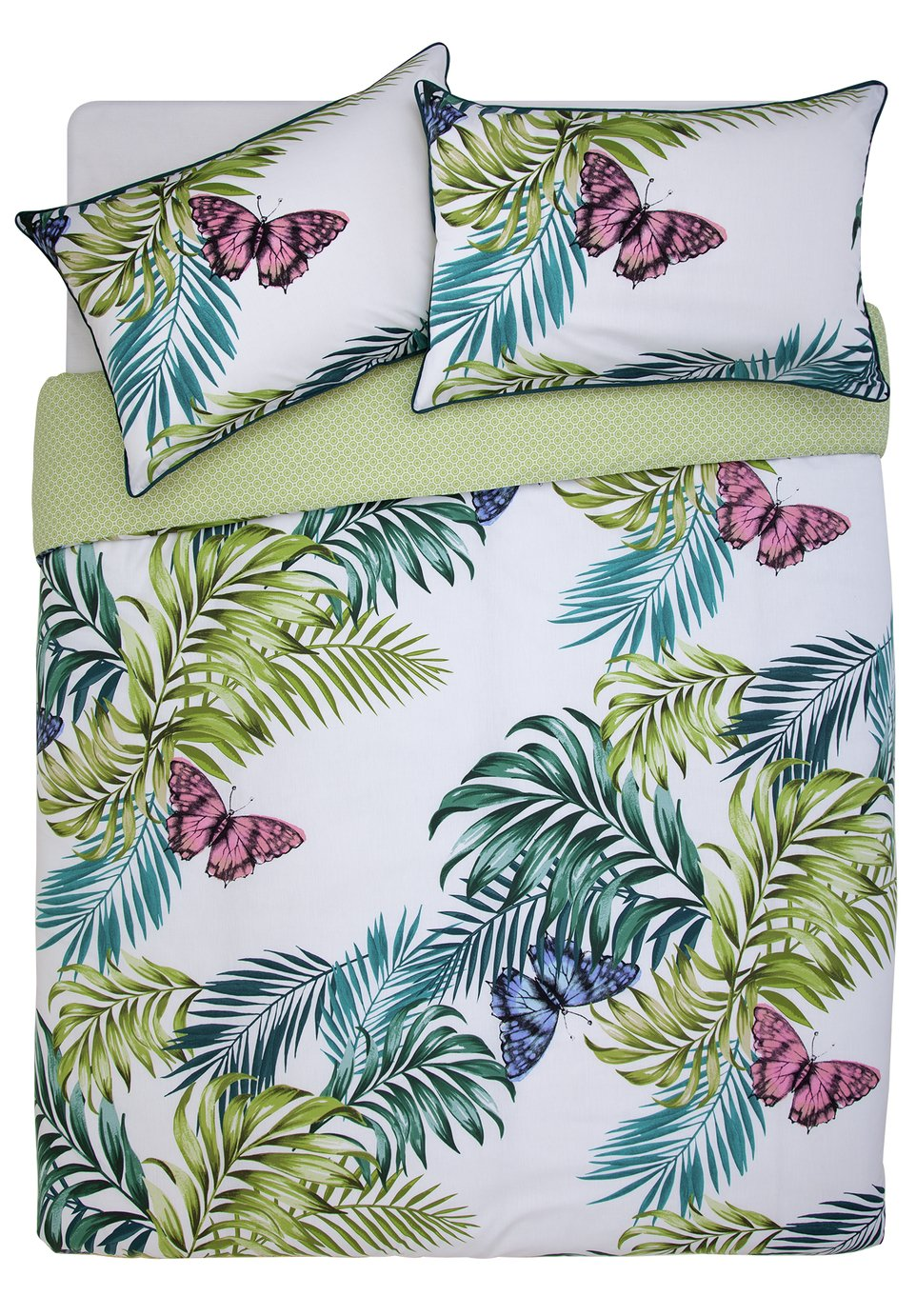 Argos Home Palmhouse Leaf Butterfly Bedding Set - Double