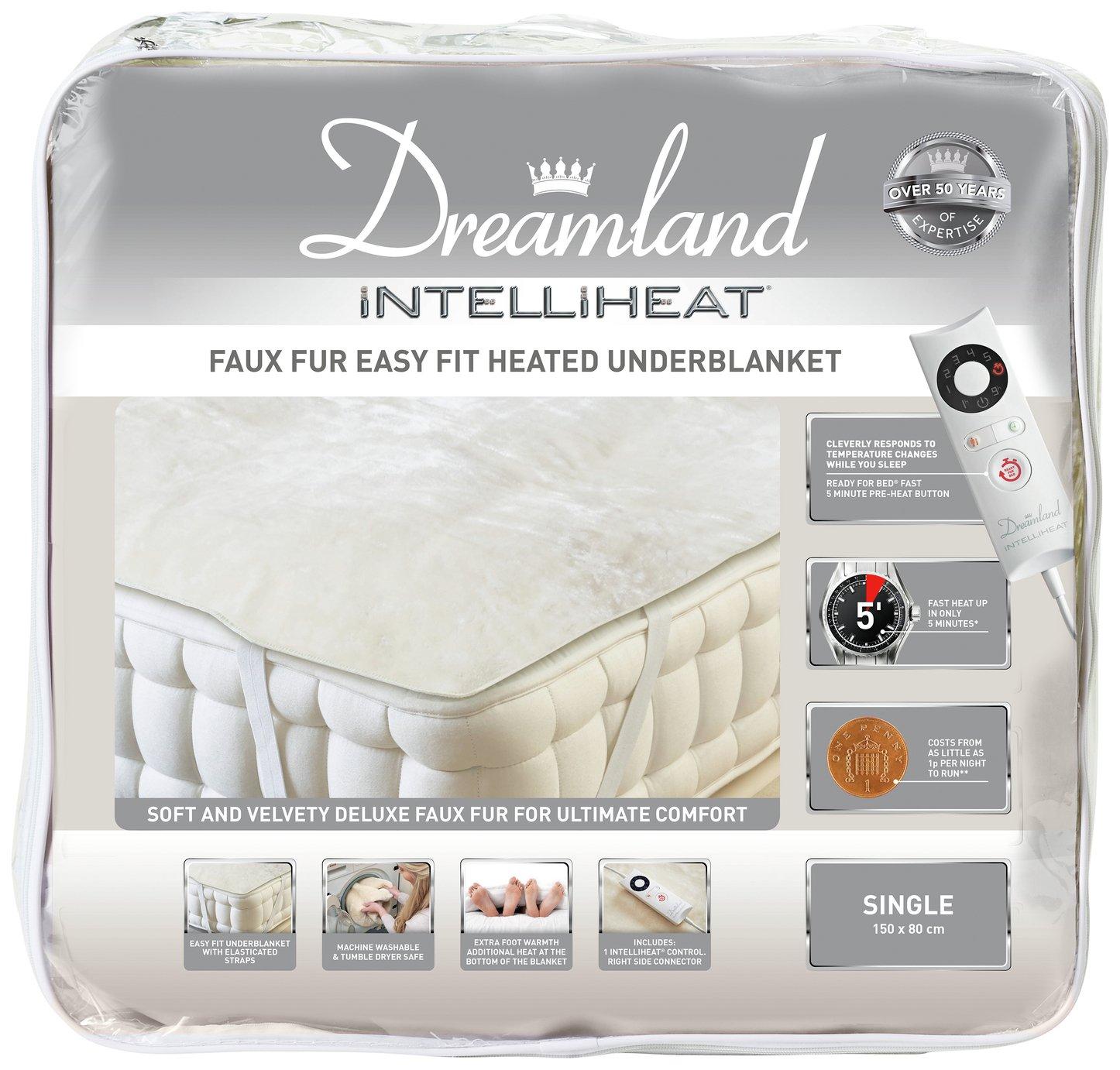 Dreamland Intelliheat Faux Fur Underblanket - Single