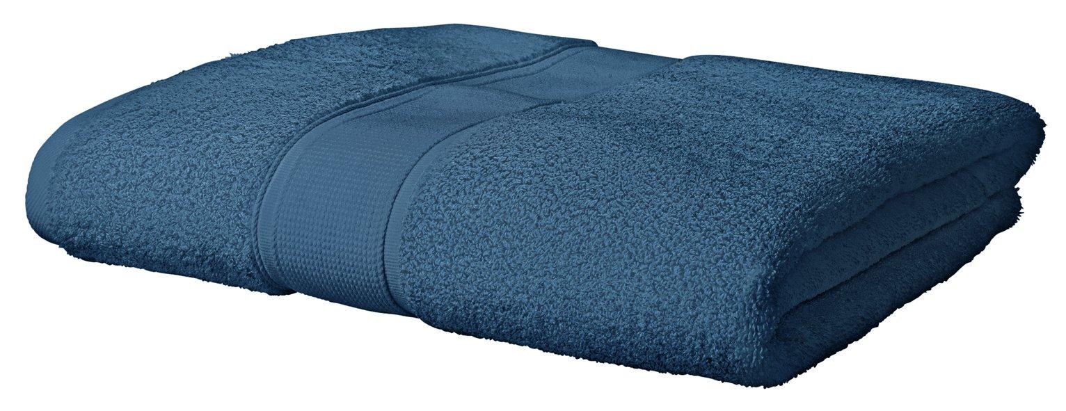 Argos Home Super Soft Bath Sheet - Denim Blue