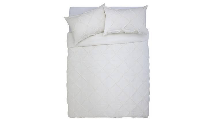8df21a7830d Buy Argos Home Hadley Cream Pintuck Bedding Set - Double