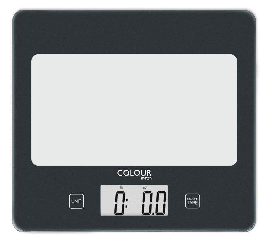 Argos Home Square Digital Kitchen Scale - Jet Black