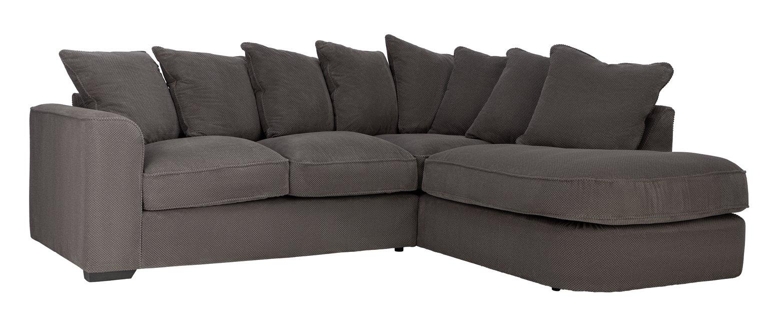 Habitat Carson Right Corner Fabric Sofa - Grey