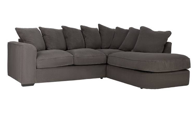 Habitat Carson Right Corner Fabric Sofa - Grey