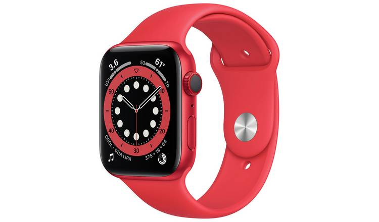 Apple Watch Series 6 Cellular 44mm Red Alu Case/Sport Band