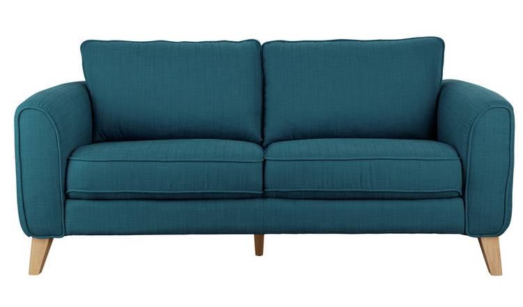 Habitat Cooper 3 Seater Fabric Sofa - Teal