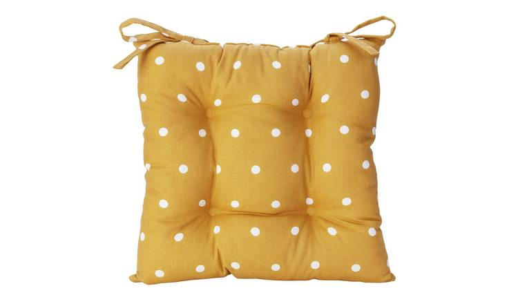Argos Home Pack of 1 Spot Seat Cushion - Mustard