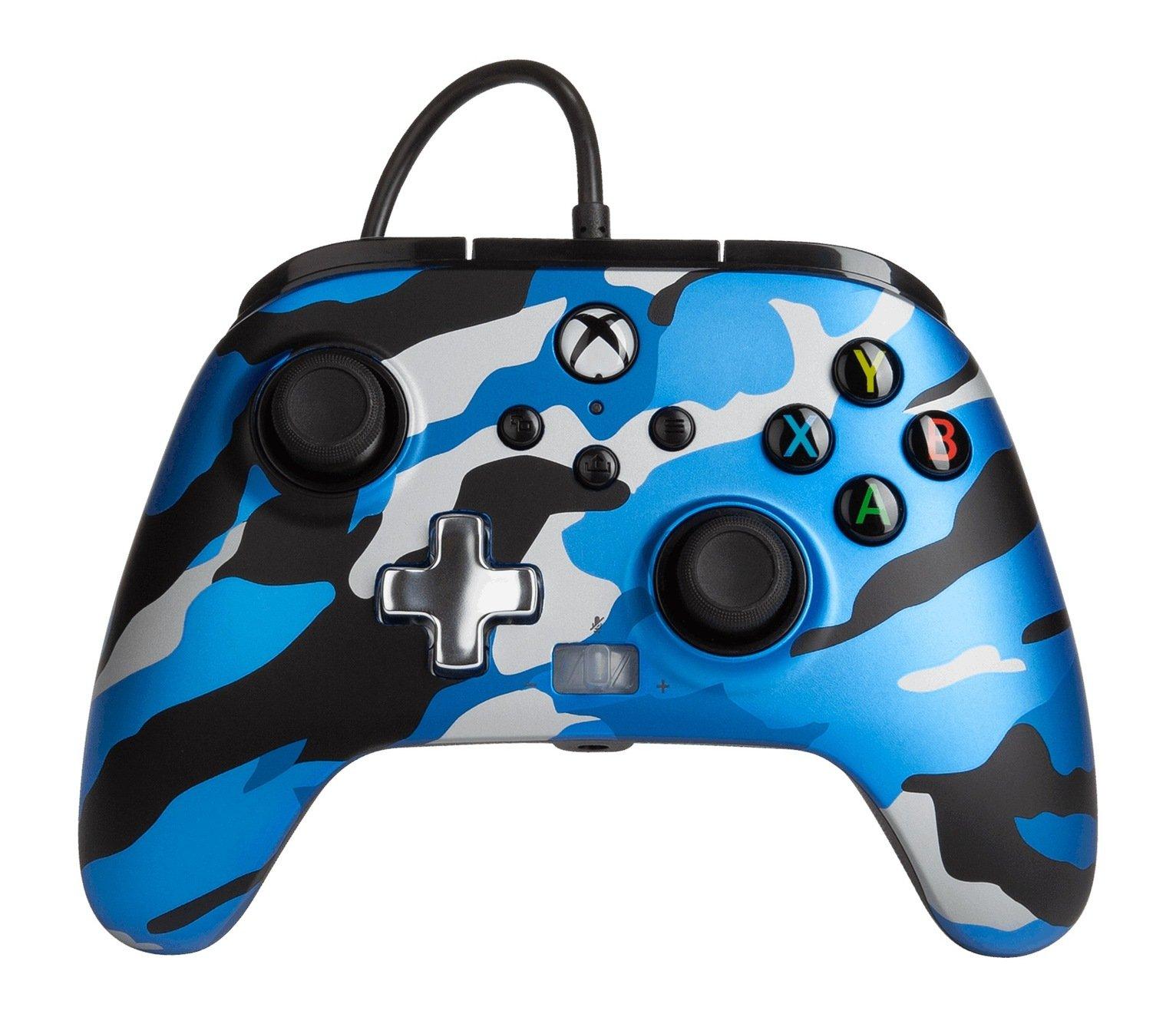 PowerA Xbox X-S / One Enhanced Wired Controller - Blue Camo