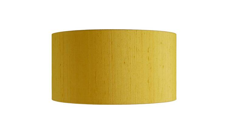 Habitat Drum Silk 35cm Shade - Yellow