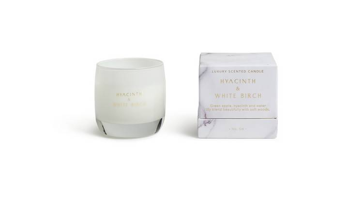 Argos Home Hyacinth and White Birch Candle