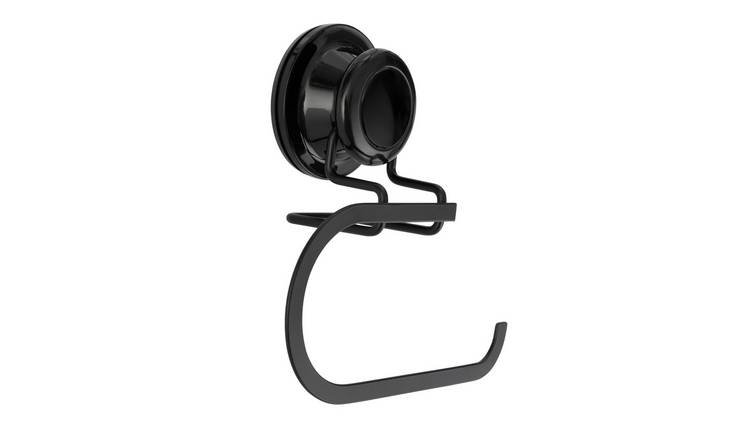 Argos Home Locking Suction Cup Wire Toilet Roll Holder-Black