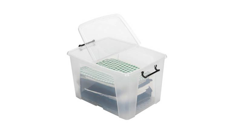 Strata 40 Litre Front Opening Plastic Storage Box - Set of 2