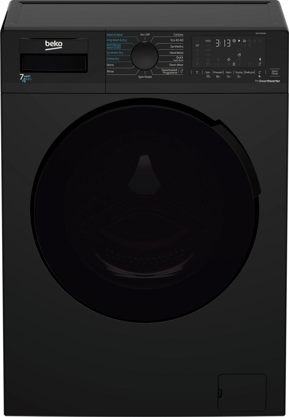 Beko WDL742431B 7KG / 4KG 1200 Spin Washer Dryer - Black