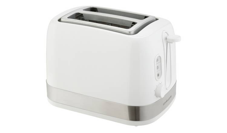 Cookworks Illuminated 2 Slice Toaster - White