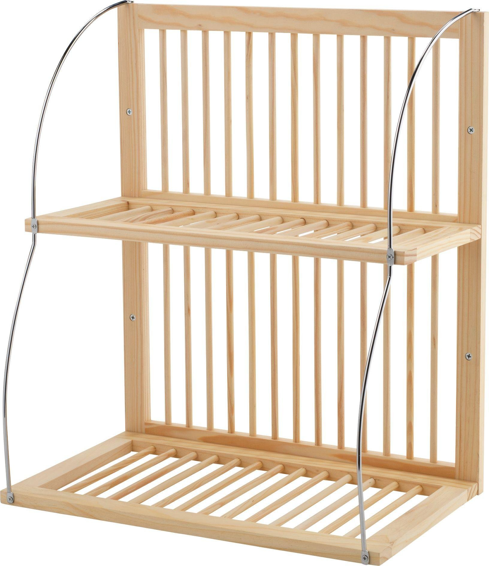 Image of HOME - Wood and Metal Plate Rack
